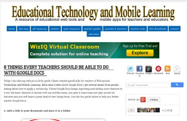 http://www.educatorstechnology.com/2013/04/8-things-every-teachers-should-be-able.html