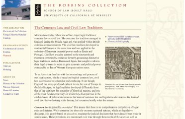 http://www.law.berkeley.edu/library/robbins/CommonLawCivilLawTraditions.html