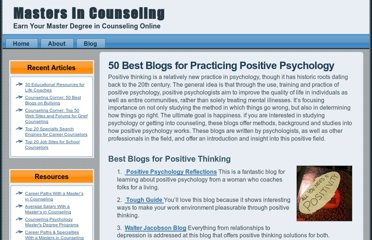 http://www.mastersincounseling.com/50-best-blogs-for-practicing-positive-psychology