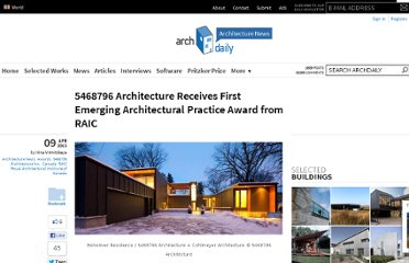 http://www.archdaily.com/356783/5468796-architecture-inc-recieves-first-annual-emerging-architectural-practice-award-by-the-raic/