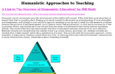 humanistic approach to the teaching and This is a delightful read, which attempts to provide an introduction to latest thinking in 1982 on a wide range of humanistic topics.