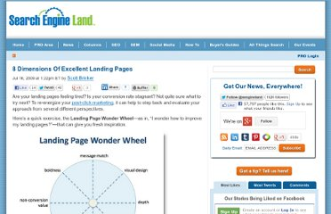 http://searchengineland.com/8-dimensions-of-excellent-landing-pages-21622