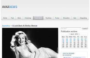 http://avaxnews.net/appealing/A_Look_Back_At_Marilyn_Monroe.html