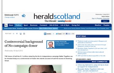 http://www.heraldscotland.com/politics/referendum-news/controversial-background-of-no-campaign-donor.20752120