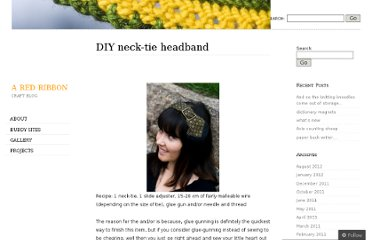 http://aredribbon.wordpress.com/projects/accessories/diy-neck-tie-headband/