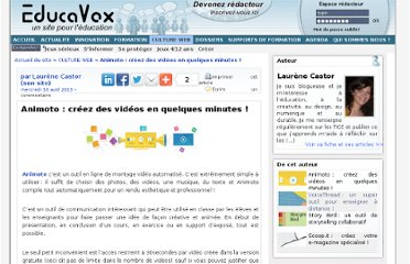 http://www.educavox.fr/culture-web/article/animoto-creez-des-videos-en