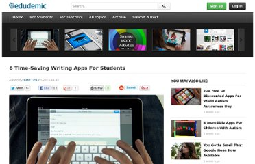 http://edudemic.com/2013/04/writing-apps-for-students/