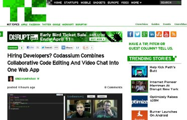 http://techcrunch.com/2013/04/10/hiring-developers-codassium-mashes-up-a-collaborative-code-editor-with-real-time-video-chat/