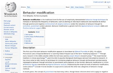 http://en.wikipedia.org/wiki/Behavior_modification
