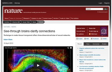 http://www.nature.com/news/see-through-brains-clarify-connections-1.12768