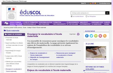 http://eduscol.education.fr/cid52525/vocabulaire-a-l-ecole-maternelle.html