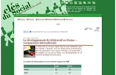 http://clesdusocial.com/france/fr01-conditions-travail/Le-developpement-du-teletravail-en-France.htm