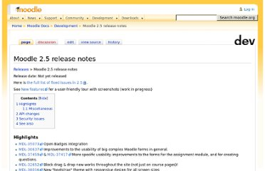 http://docs.moodle.org/dev/Moodle_2.5_release_notes