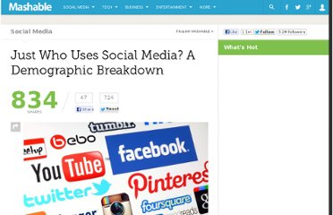 http://mashable.com/2013/04/12/social-media-demographic-breakdown/