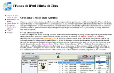 http://samsoft.org.uk/iTunes/grouping.asp