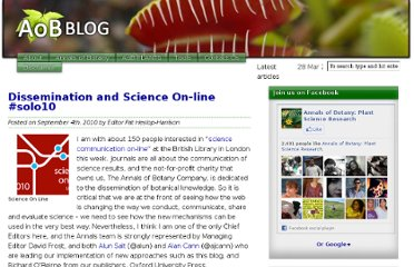 http://aobblog.com/2010/09/dissemination-and-science-on-line-solo10/