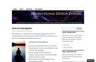 http://instructionaldesignfusions.wordpress.com/2010/06/28/metacognition/