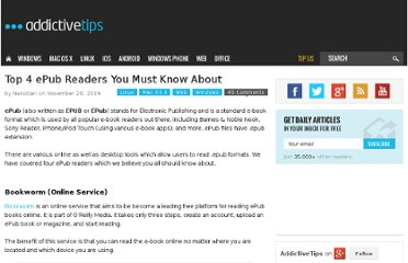 http://www.addictivetips.com/windows-tips/top-4-free-epub-reader-software/