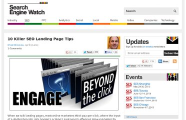 http://searchenginewatch.com/article/2261323/10-Killer-SEO-Landing-Page-Tips