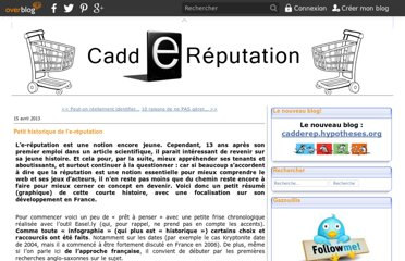http://caddereputation.over-blog.com/article-petit-historique-de-l-e-reputation-117114034.html