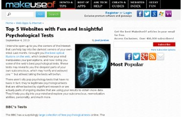 http://www.makeuseof.com/tag/top-5-websites-fun-insightful-psychological-tests/