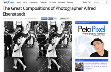 http://petapixel.com/2013/04/15/the-great-compositions-of-photographer-alfred-eisenstaedt/