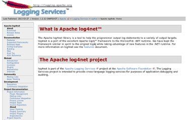 http://logging.apache.org/log4net/