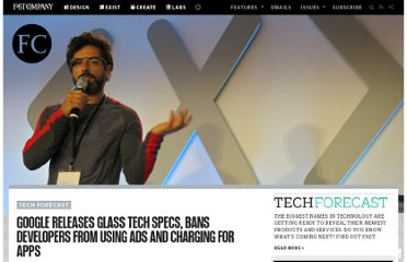 http://www.fastcompany.com/3008370/tech-forecast/google-releases-glass-tech-specs-bans-developers-using-ads-and-charging-apps