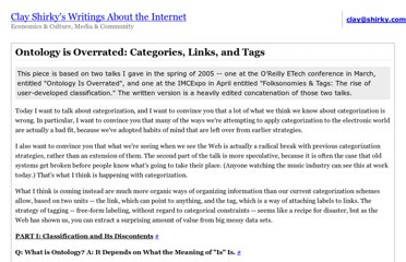 http://www.shirky.com/writings/ontology_overrated.html