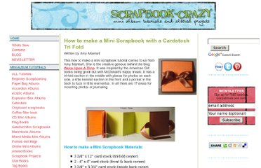 http://www.scrapbook-crazy.com/how-to-make-a-mini-scrapbook.html