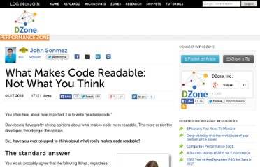 http://java.dzone.com/articles/what-makes-code-readable-not