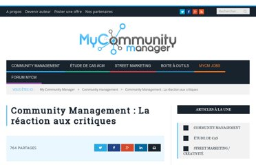 http://www.mycommunitymanager.fr/community-management-la-reaction-aux-critiques/