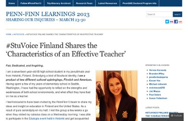 http://pennfinn13.wordpress.com/2013/04/17/stuvoice-finland-shares-the-characteristics-of-an-effective-teacher/