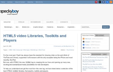 http://speckyboy.com/2010/04/23/html5-video-libraries-toolkits-and-players/