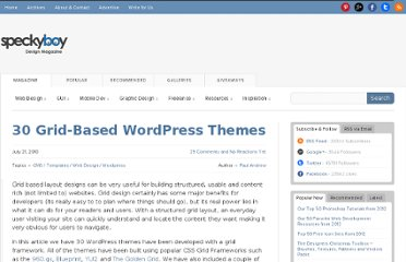 http://speckyboy.com/2010/07/21/30-grid-based-wordpress-themes/