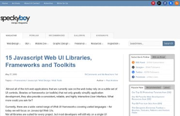 http://speckyboy.com/2010/05/17/15-javascript-web-ui-libraries-frameworks-and-libraries/