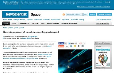 http://www.newscientist.com/article/dn19403-swarming-spacecraft-to-selfdestruct-for-greater-good.html