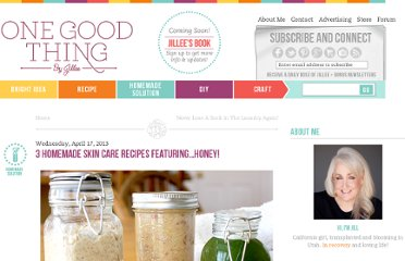 http://www.onegoodthingbyjillee.com/2013/04/3-homemade-skin-care-recipes-featuring-honey.html