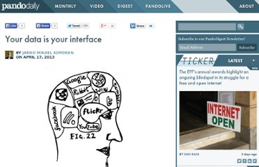 http://pandodaily.com/2013/04/17/your-data-is-your-interface/