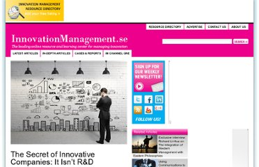 http://www.innovationmanagement.se/2013/04/18/the-secret-of-innovative-companies-it-isnt-rd/