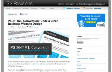 http://sixrevisions.com/tutorials/web-development-tutorials/psdhtml-conversion-code-a-clean-business-website-design/
