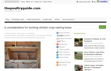 http://thepoultryguide.com/6-considerations-for-building-chicken-coop-nesting-boxes/