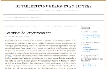 http://blogpeda.ac-bordeaux.fr/tablettesetlettres/2013/02/26/videos-experimentation/