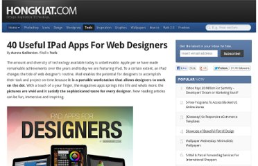http://www.hongkiat.com/blog/40-useful-ipad-apps-for-web-designers/