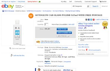 http://www.ebay.co.uk/itm/AUTOGLYM-CAR-GLASS-POLISH-325ml-WITH-FREE-POSTAGE-/330803508513