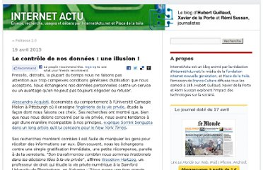 http://internetactu.blog.lemonde.fr/2013/04/19/le-controle-de-nos-donnees-une-illusion/