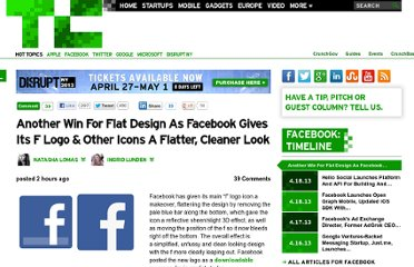 http://techcrunch.com/2013/04/19/facebook-goes-flat/