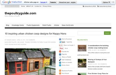 http://thepoultryguide.com/urban-chicken-coop-designs-and-plans/