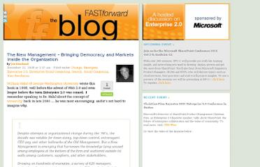 http://www.fastforwardblog.com/2008/12/22/the-new-management-bringing-democracy-and-markets-inside-the-organization/