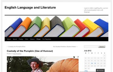 http://englishlanguageliterature.com/2012/07/19/custody-of-the-pumpkin-use-of-humour/
